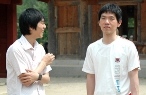 Lee Sedol (left) and Lee Chang-ho